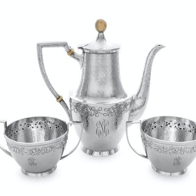 An American Silver Three-Piece Coffee Service