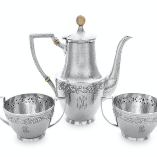An American Silver Three-Piece Coffee Service