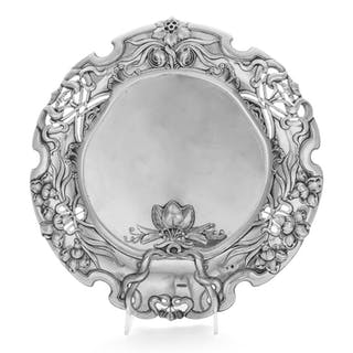An Austrian Art Nouveau Silver Serving Dish