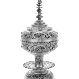 A Thai Silver Incense Burner