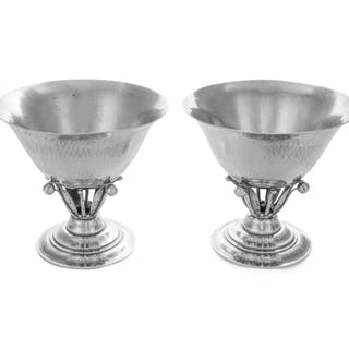 A Pair of Danish Silver Footed Bowls