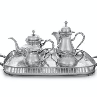 An Italian Silver Four-Piece Bachelor's Tea and Coffee Service