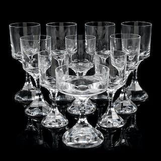 A Baccarat Glass Stemware Service