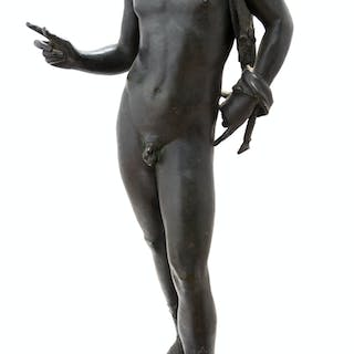 A Grand Tour Bronze Figure of Narcissus (Late 19th/Early 20th Century)