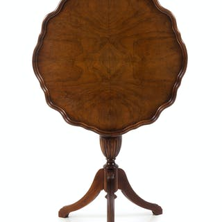 A Regency Style Mahogany Tilt-Top Tea Table