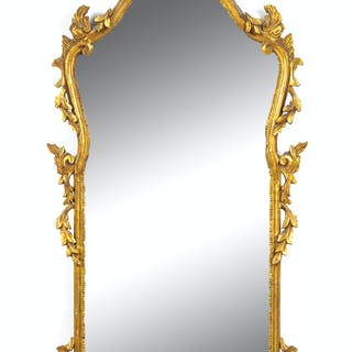 An Italian Baroque Style Giltwood Mirror