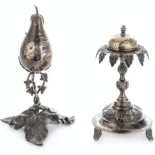 Two Continental Silver Spice Boxes