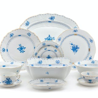 A Herend Porcelain Dinnerware Service