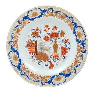 A Chinese Export Imari Pattern Porcelain Plate