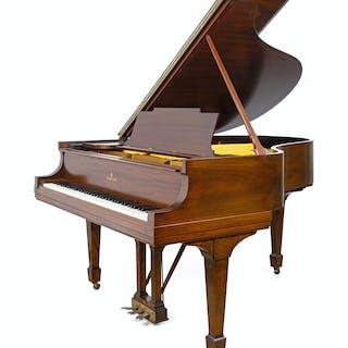 A Steinway & Sons Mahogany Baby Grand Piano