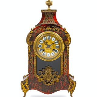 A Boulle Marquetry Mantel Clock