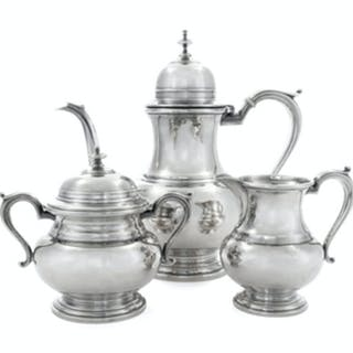 A Silver Three-Piece Tea Service