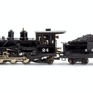 A Roundhouse Painted Metal G-Gauge S.R & R.L 2-6-2Locomotive and Tender
