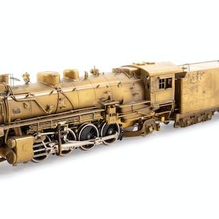 A United Scale Models Brass HO-Gauge 2-8-2 Locomotive and Tender