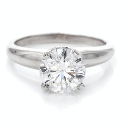 A Platinum and Diamond Solitaire Ring