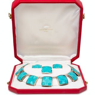 A Silver and Turquoise Demi-Parure, Georgina Ward