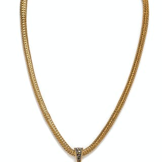 A Victorian Yellow Gold and Micromosaic Pendant and Necklace