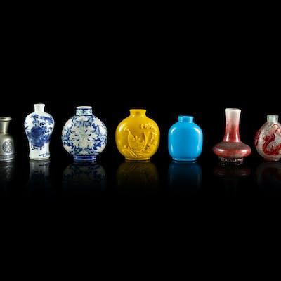 Nine Chinese Snuff Bottles