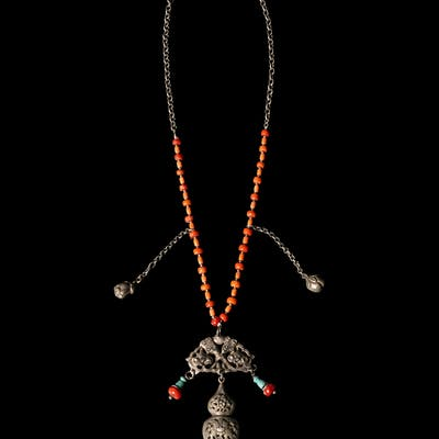 A Chinese Silver Necklace