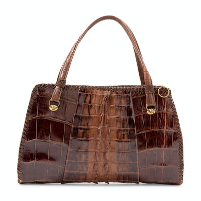 Brown Alligator Bag