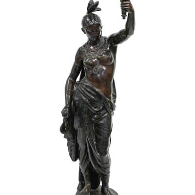 Bronze figure of a woman