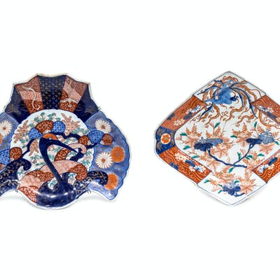 Two Japanese Imari Porcelain Chargers