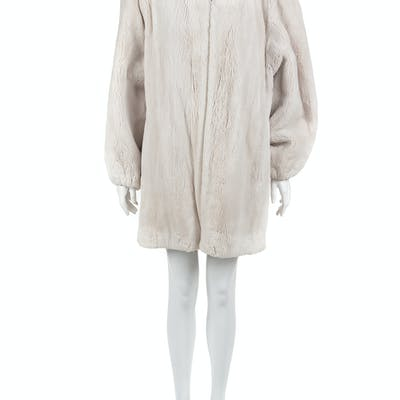 Shearling Lined Parka Coat, 1990-2000s