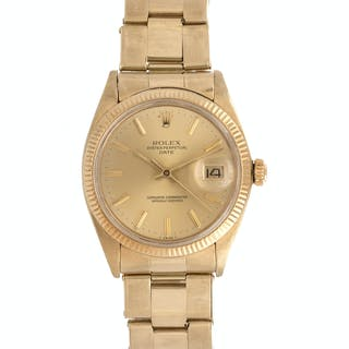 Rolex, 14K Yellow Gold Ref. 1503 'Oyster Perpetual Date' Wristwatch, Circa 1980