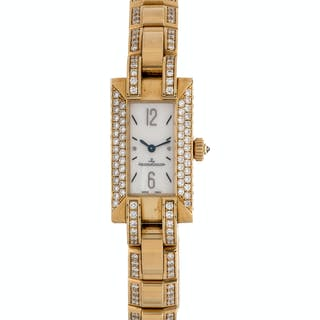 Jaeger LeCoultre, 18K Yellow Gold and Diamond 'Ideale' Wristwatch