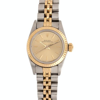 Rolex, Stainless Steel and Yellow Gold Ref. 67193 'Oyster Perpetual'