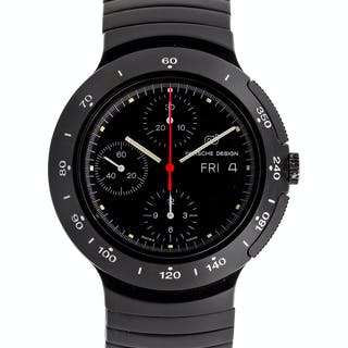 Porsche Design, Black PVD and Titanium Chronograph Wristwatch