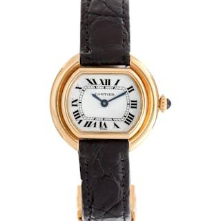 Cartier, Paris, 18K Yellow Gold 'Ellipse' Wristwatch