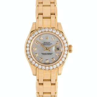Rolex, 18K Yellow Gold and Diamond Ref. 80298 'Pearlmaster' Wristwatch