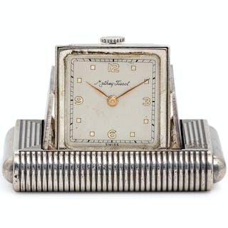 Mathey Tissot, Art Deco Sterling Silver Travel Watch