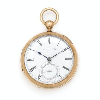 James Hoddell, London, 18K Yellow Gold Open Face Verge Pocket Watch