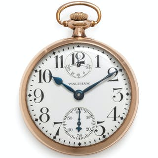 Waltham, G.F. Open Face 'Vanguard' Pocket Watch with Power Reserve