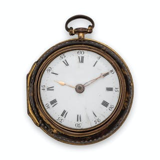 J. Richards, London, Pair Cased Open Face Verge Pocket Watch