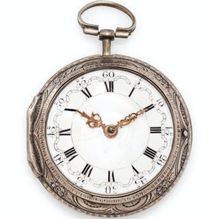 Samson, London, Silver Pair Cased Open Face Verge Pocket Watch