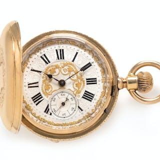 Paul Jeannot, 18K Yellow Gold Hunter Case Pocket Watch