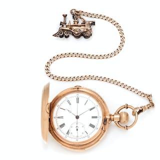 Patek Philippe, 18K Yellow Gold Hunter Case Chronograph Minute Repeater