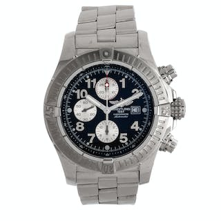 Breitling, Stainless Steel Ref. A13370 'Super Avenger' Chronograph Wristwatch