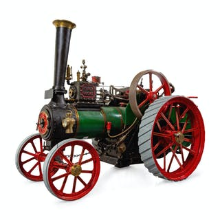 A Painted Metal Percy, Cooke & Codnor Live-Steam Tractor Scale Model
