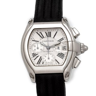 Cartier, Stainless Steel Ref. 2618 'Roadster' Chronograph Wristwatch