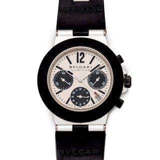 Bvlgari, Aluminum Ref. AC.38TA 'Diagano' Chronograph Wristwatch