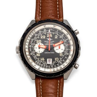 Breitling, Stainless Steel Ref. 1809 'Cosmonaute Chrono-Matic' Wristwatch