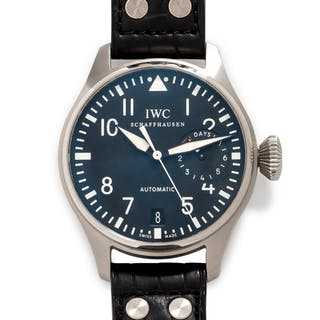 IWC Schaffhausen, Stainless Steel 'Fliegeruhg Big Pilot 7 Days' Wristwatch