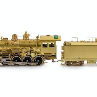 A Factory Boxed Samhongsa Brass HO-Gauge Santa Fe Railway 2-8-0 Locomotive