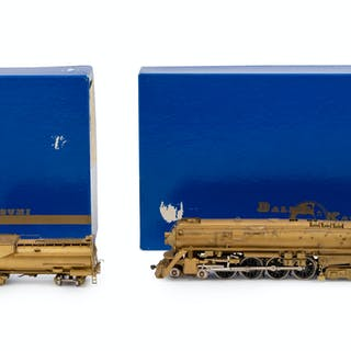 Two Factory Boxed Ketsumi Brass HO-Gauge Locomotive and Tenders