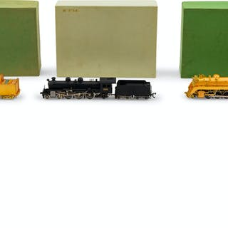A Group of Three Factory Boxed HO-Gauge Locomotives and Tenders