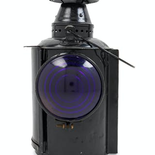 A Painted Metal Union Pacific Four-Light Railroad Lantern